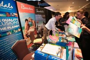 sandals booth shot