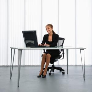 Woman working.